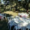 Hvide borde middag i det fri PNG